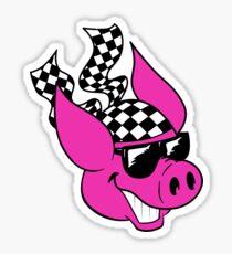 Checker Pig Sticker