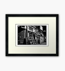Mono Alley Framed Print