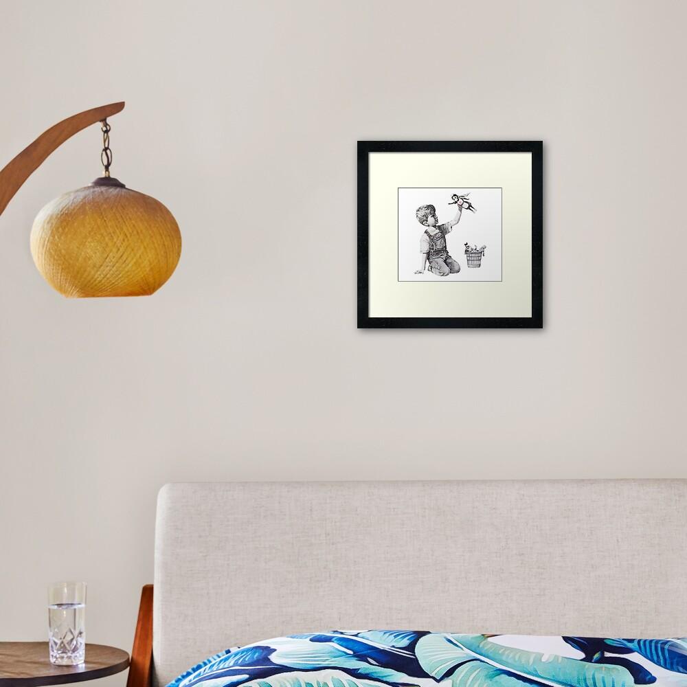 BANKSY Superhero Nurse Framed Art Print