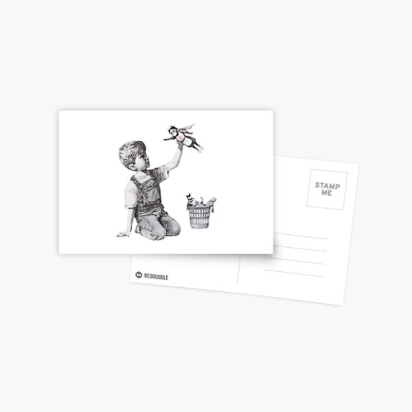 BANKSY Superhero Nurse Postcard