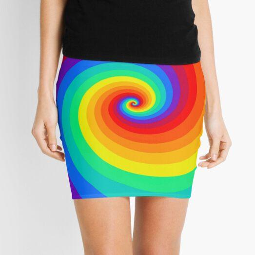 Rainbow pride wave Mini Skirt