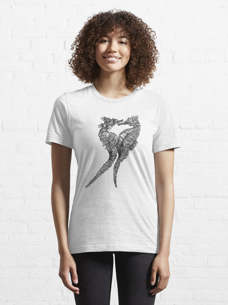 Alternate view of Chris and Gladis - Seahorses in love Essential T-Shirt