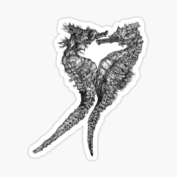 Chris and Gladis - Seahorses in love Sticker