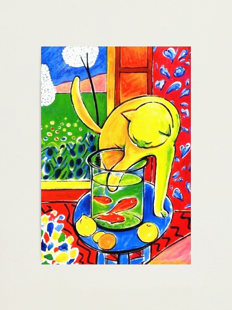Alternate view of Henri Matisse, Le Chat Aux Poissons Rouges 1914, (The Cat With Red Fishes), Artwork, Men, Women, Youth Photographic Print