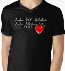 All My Base (Black) Mens V-Neck T-Shirt