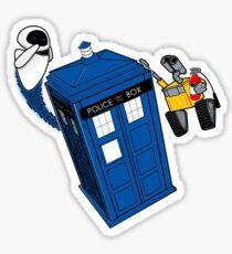 Tardis Space Dance - Wall-e & Eve Sticker