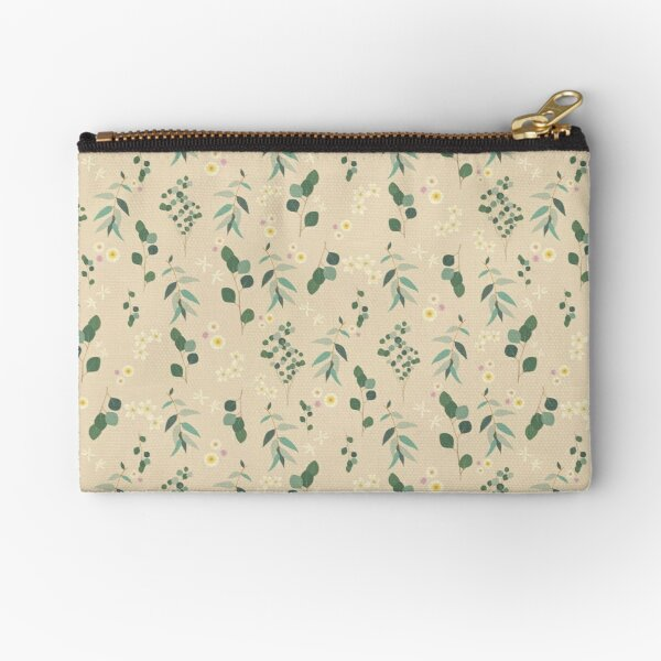 Classic California Floral Pattern (Large) Zipper Pouch