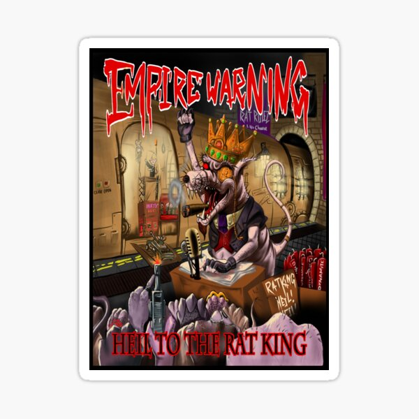 Heil to the rat king cover art Sticker