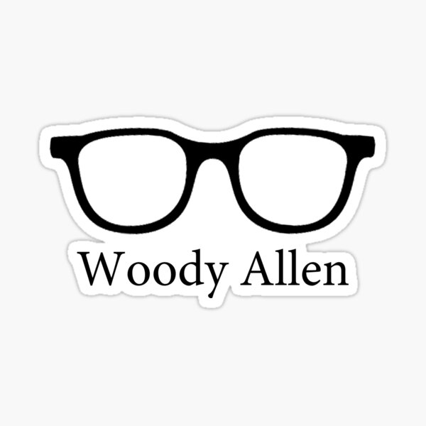 Woody Allen Minimalist Design Sticker