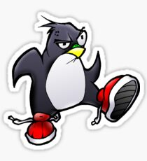 Angry Tux Sticker