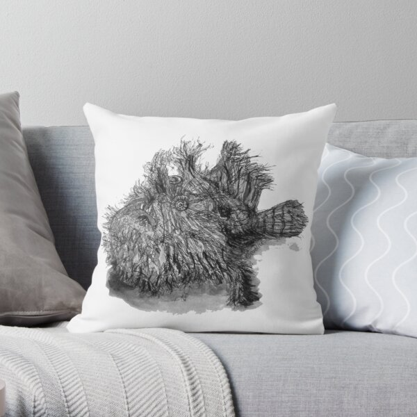 Andrew the Angler Throw Pillow