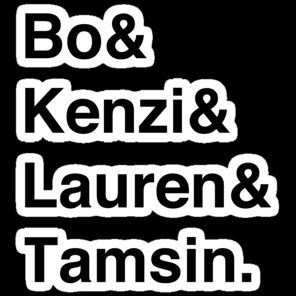 Bo & Kenzi & Lauren & Tamsin. (Black Text) by burritomadness