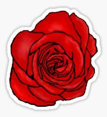 Open Red Rose Sticker