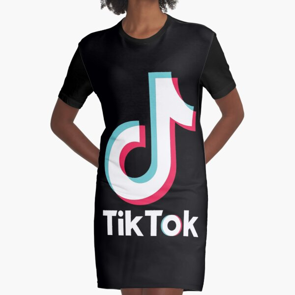 TikTok Graphic T-Shirt Dress