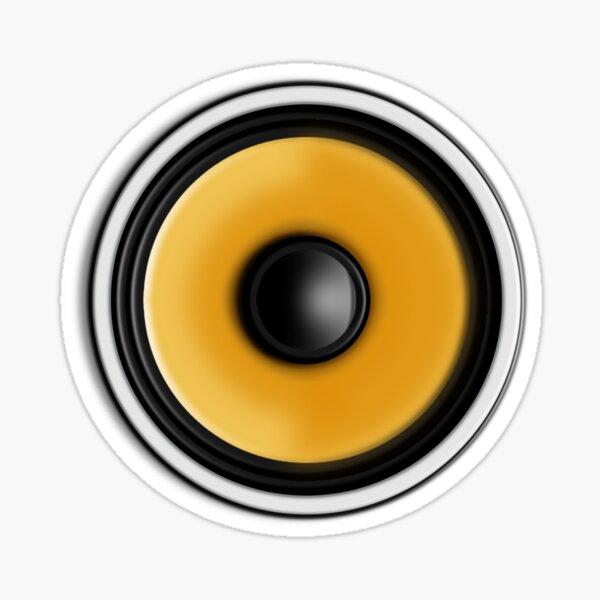 Bass Speaker Sticker