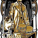 Castiel Nouveau Sticker by Ryleh-Mason