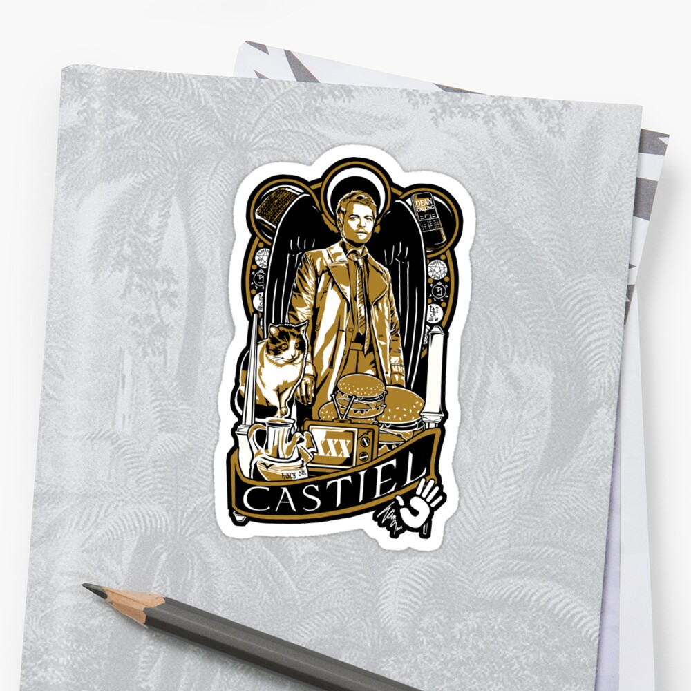 Castiel Nouveau Sticker by Ryleh-Mason