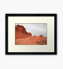 Red hills Framed Print