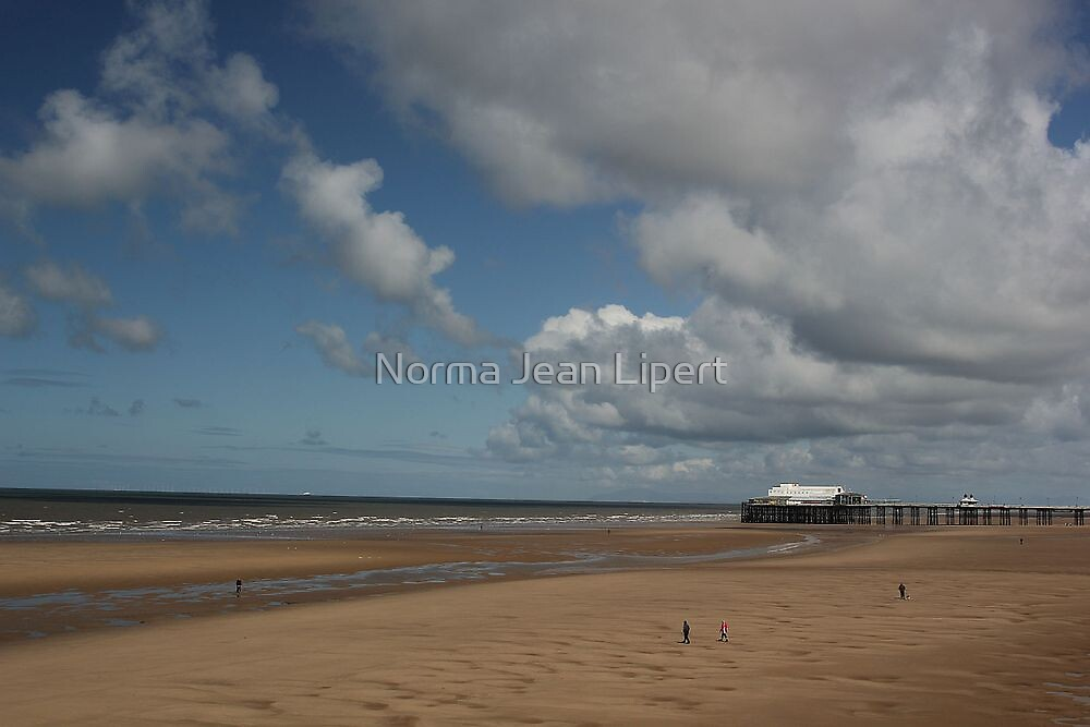 Low Tide at Blackpool Beach by Norma Jean Lipert