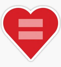 Equal Love Heart Sticker
