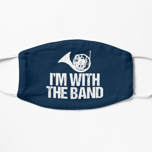 Funny French Horn - I'm With the Band Flat Mask