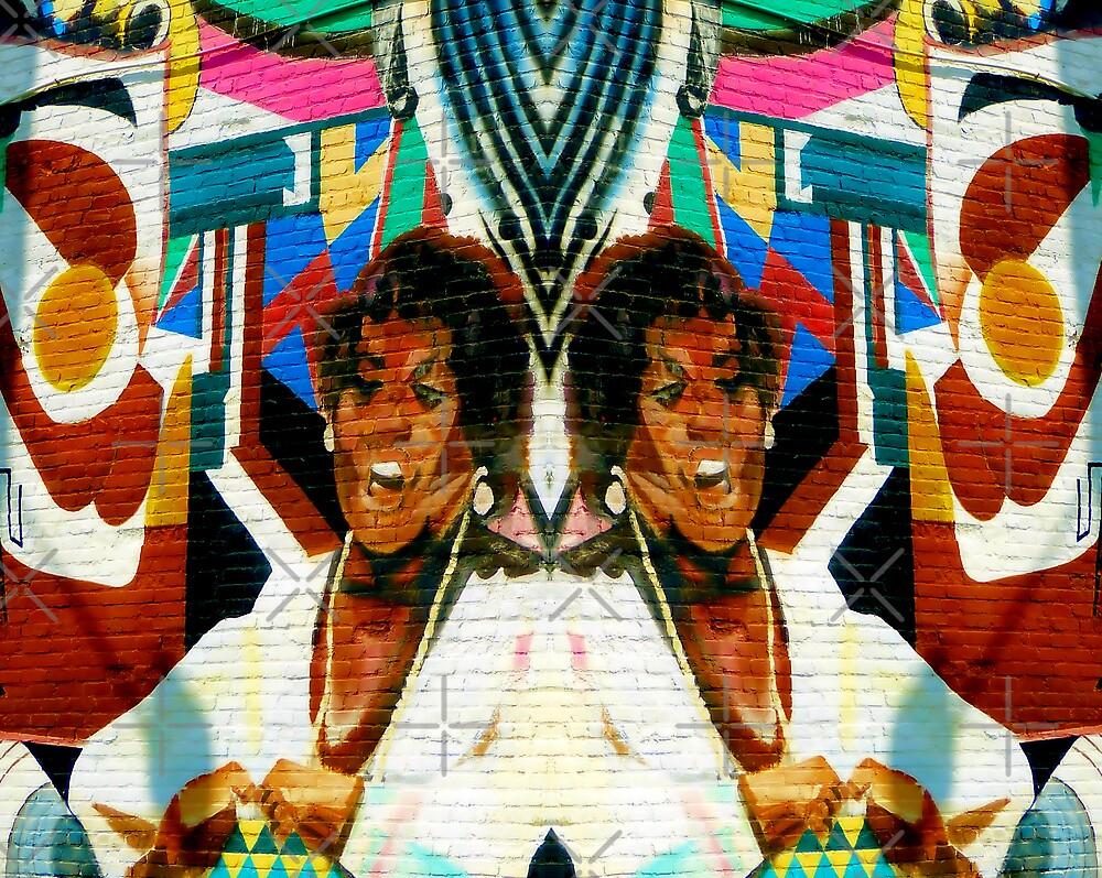 Wall Mural - Sweet Auburn Avenue Corridor - Atlanta, Ga. by Scott Mitchell