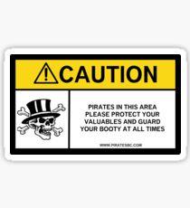 Pirates caution Sticker