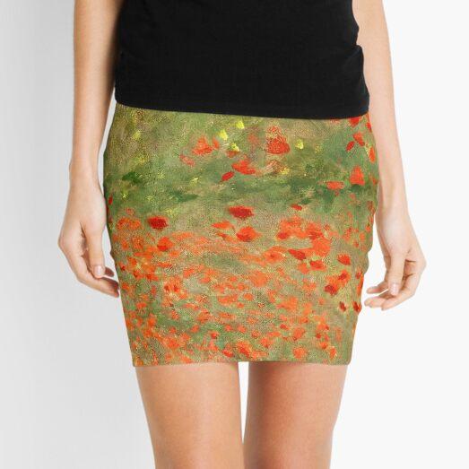 """Monet """"Poppy Field"""" Poppies only version Mini Skirt"""