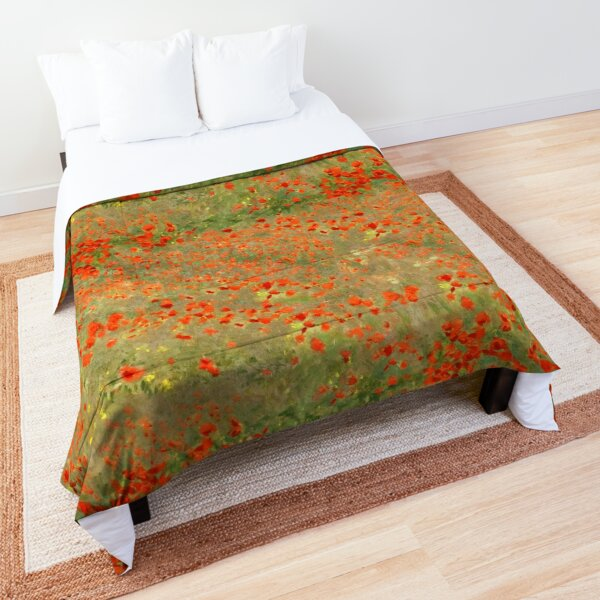 "Monet ""Poppy Field"" Poppies only version Comforter"