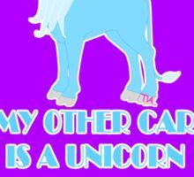 my other car is a unicorn  Sticker