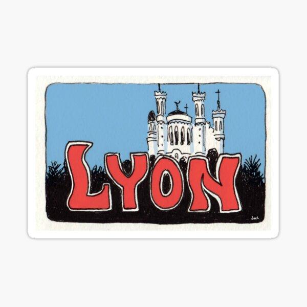 Autocollant de voyage: Lyon La Basilique de Notre-Dame de Fourvière Sticker