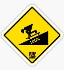 Steep gnar Sticker