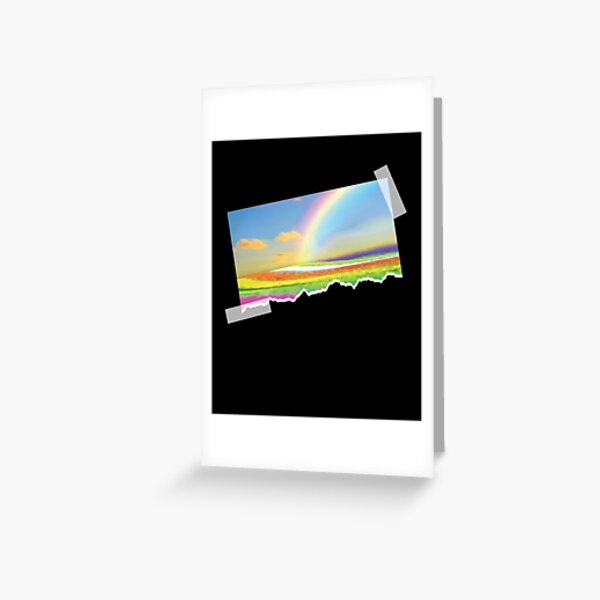 Ocean Of Rainbows | Reflection Refraction And Dispersion - Scrapbook Painting Greeting Card