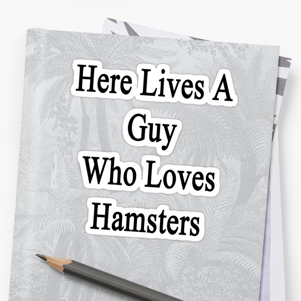 Here Lives A Guy Who Loves Hamsters  by supernova23