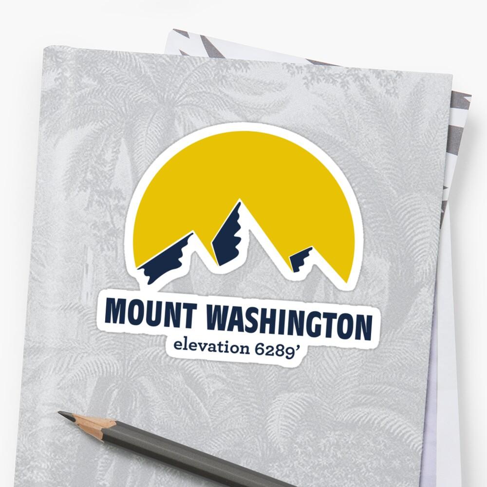 Mount Washington Sticker by msbpackengineer