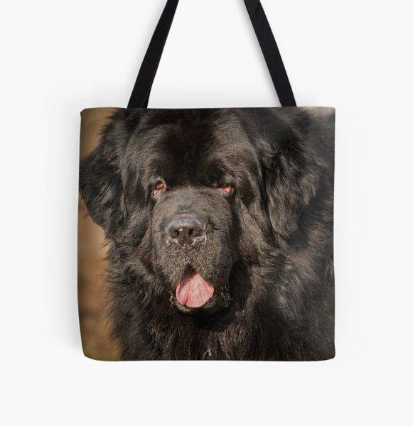 Newfoundland Dog  All Over Print Tote Bag