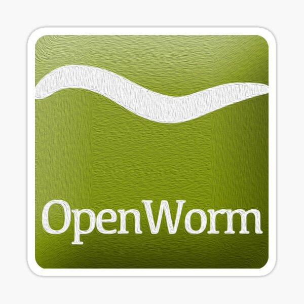 OpenWorm Logo Oil Sticker