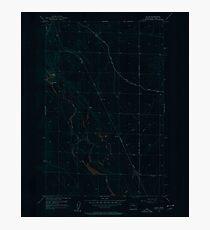 USGS Topo Map Washington State WA Gloyd 241323 1956 24000 Inverted Photographic Print