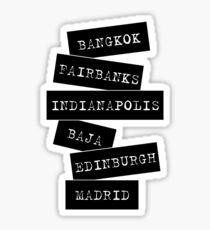 Travel destinations Sticker