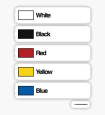 Brick Sorting Label: White Black Red Yellow Blue Sticker