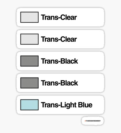 Brick Sorting Labels: Trans Clear, Trans Black, Trans Light Blue Sticker