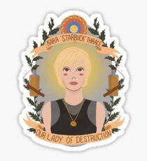 Kara Thrace Sticker