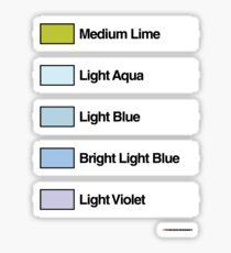 Brick Sorting Labels: Medium Lime, Light Aqua, Light Blue, Bright LightBlue, Light Violet Sticker