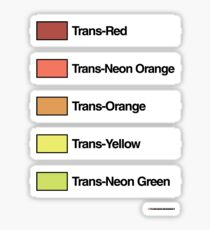 Brick Sorting Labels: Trans-Red, Trans-Neon Orange, Trans-Orange, Trans-Yellow, Trans-Neon Green Sticker