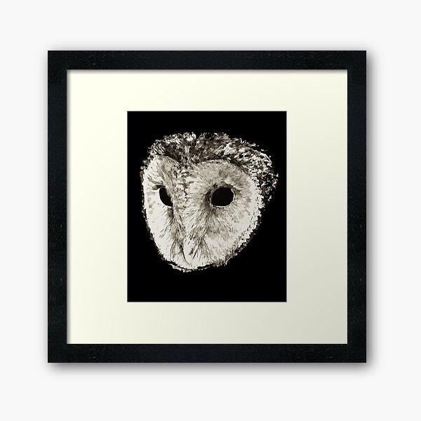 Owl From The Underworld | FelOwl - Void Owl Framed Art Print