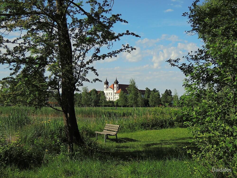 Germany, Monastery at Countyside, Bavaria, by Daidalos