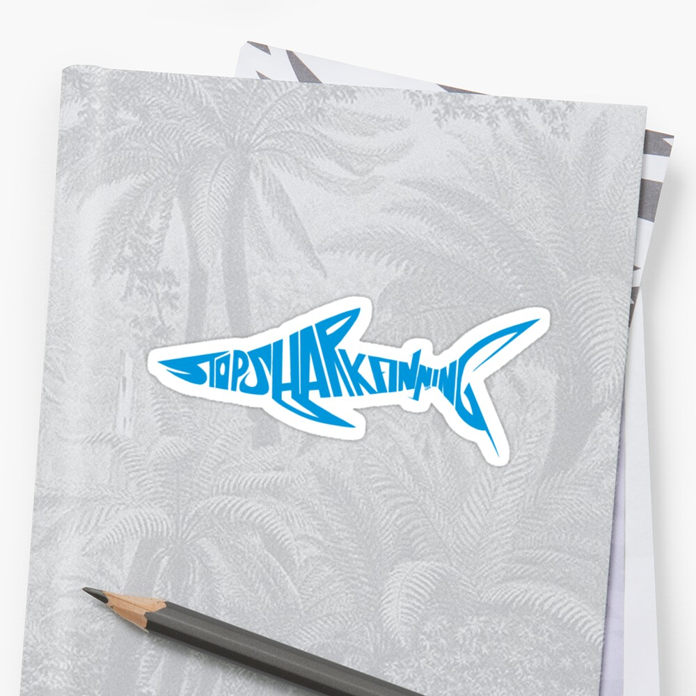 Stop Shark Finning (blue) by Lily Williams
