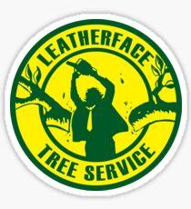 Leatherface Tree Service Sticker Sticker