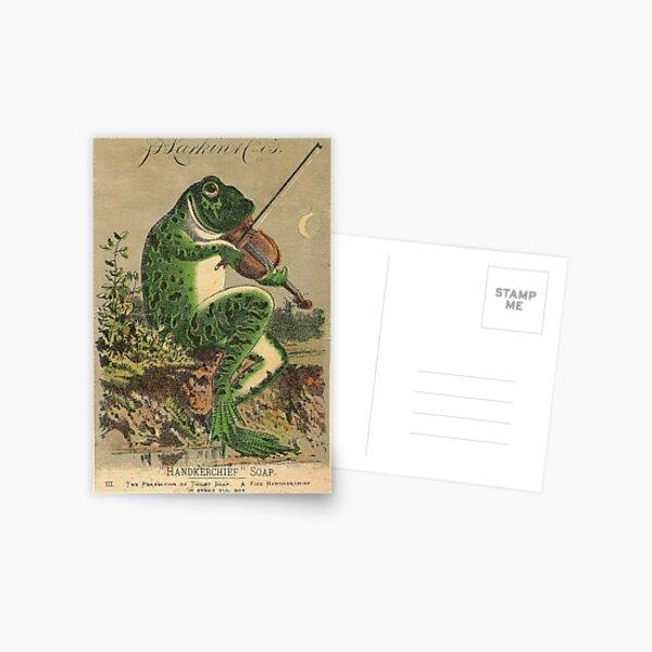 Rana de violín vintage Postal