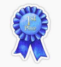 Ribbons 1st Place Sticker